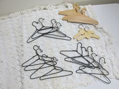Doll Clothes Hangers 19 Wire and Wood by LuRuUniques on Etsy