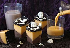 Hallowen Recipe: Chocolate Orange Panna Cotta - SugarHero