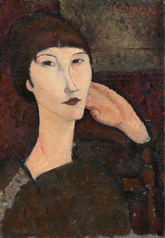 Amadeo Modigliani- 1917. Oil on linen. 55,3 x 38,1 cm. National Gallery of Art, Washington. 1963.10.171.