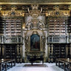 Library at University if Coimbra, Portugal