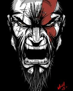 Qué opinan del nuevo god of war Illustration Batman, Graffiti, Kratos God Of War, War Tattoo, Totenkopf Tattoos, Joker Art, Game Background, Bd Comics, Gaming Wallpapers