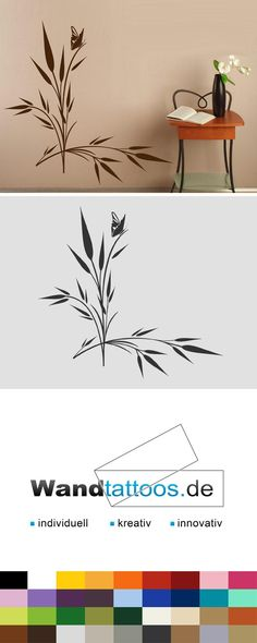 Best Wandtattoo Gr ser mit kleinem Schmetterling Deko Gras