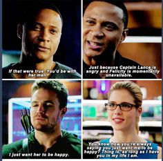 Oliver, Felicity & Diggle #Arrow #TheOffer
