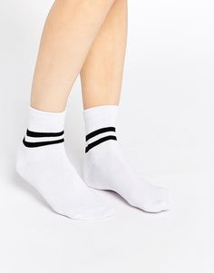 ASOS+2+Stripe+Ankle+Socks