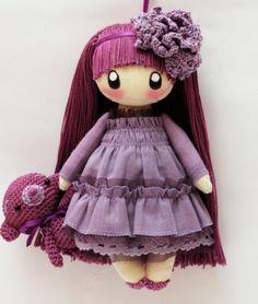 Little Doll Frusya violet by DollsLittleAngels on Etsy