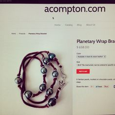 Now $498.00! @ www.acompton.com Spiritual Jewelry, Tahitian Pearls, Black Cream, Fine Jewelry, Personalized Items, Bracelets, Leather, Blog, Bangle Bracelets