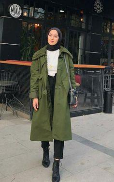 Hijab Fashion Casual, Street Hijab Fashion, Casual Hijab Outfit, Muslim Fashion, Fashion Outfits, Hijab Musulman, Hijab Chic, Hijab Dress, Mode Hijab