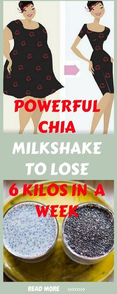Powerful Chia Milkshake To Lose 6 Kilos In 1 Week! Losing Weight Tips, Weight Loss Tips, Lose Weight, Chia Seed Recipes For Weight Loss, Diet Drinks, Healthy Drinks, Healthy Eating, Healthy Meals, Healthy Recipes