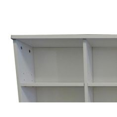 Benzara Wooden Twin Size Bookcase Headboard with 6 Open Shelves, White - BM141868 | Benzara.com Open Shelving, Shelves, Single Size Bed, Bookcase Headboard, Bedroom Decor, Bedroom Wall, Kids Bedroom, Contemporary Style, Decorative Items