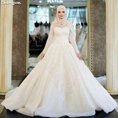 There is always many products on sae upto - Chengjun Muslim White Crystal Luxury Ball Gown Women Wedding Dress Bridal Gown - eTrendings Muslimah Wedding Dress, Disney Wedding Dresses, Hijab Bride, Pakistani Wedding Dresses, Bridal Dresses, Wedding Gowns, Bridesmaid Dresses, Wedding Cakes, Wedding Hijab Styles
