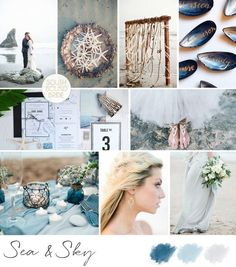 Inspiration Board: Sea & Sky | SouthBound Bride