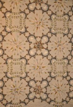 Yoko Saito  Stunning. Yoko Saito, Patch Quilt, Applique Quilts, Quilting Projects, Quilting Designs, Neutral Quilt, Lone Star Quilt, Place Mats Quilted, Contemporary Quilts
