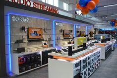 Elektronikfachmärkte am POS Sonos, Architecture, Liquor Cabinet, Flat Screen, Electronics, Storage, Design, Furniture, Home Decor