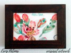 AZALEA DESCRIPCION: acuarela sobre papel, motivo floral, con marco de madera.  MARCA Y PERIODO: acuarela original, año 2013 MEDIDAS: papel 15x10 cm, marco 18,5x13,5 cm
