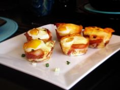 I'mma eat you little bacon egg cup thingy. I'mma eat you! Breakfast Bites, Paleo Breakfast, Breakfast Recipes, Breakfast Cupcakes, Breakfast Muffins, Paleo Recipes, Great Recipes, Cooking Recipes, Favorite Recipes