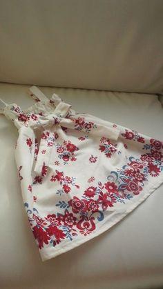 夏にサラリと着れるワンピースを作りたくて☆100~110cm 80~90cmのレシピ記載。お子様の胸囲半分×1.5位を目安に作ると他のサイズも作れます。丈はお好みで☆