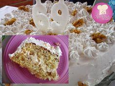 Dia 23 foi aniversário da minha mãe e eu quis dar o bolo de presente para ela, quando perguntei qual sabor ela preferia ela disse nozes... Na verdade eu já sabia, mas perguntei... rs.. Ela ama bolo de nozes. Escolhi esse bolo de nozes com recheio de mousse de... #açucar #aniversário #baunilha