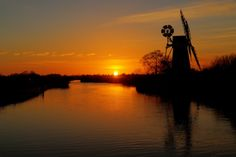 Sunset over How Hill Windmill. Photo: Picasa. Norfolk, England