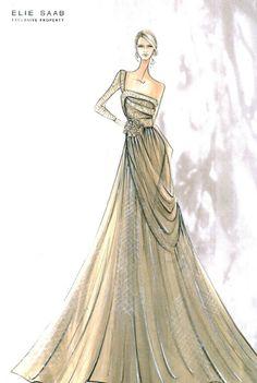What a beautiful, elegant dress.