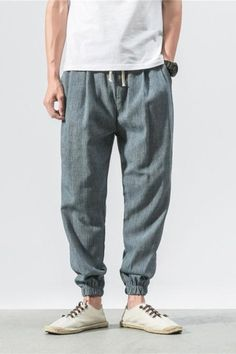 Brand Casual Harem Pants Men Jogger Pants Men Fitness Trousers Male Chinese Traditional Harajuku 2018 Summer Clothe - Men's style, accessories, mens fashion trends 2020 Harem Pants Fashion, Harem Pants Men, Mens Jogger Pants, Trousers, Men's Pants, Patch Pants, Loose Pants, Loose Fit, Yoga Pants