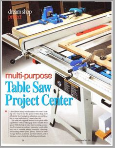 Table saw workcenter woodworking plan converts a contractors saw shopnotes 106 greentooth Image collections