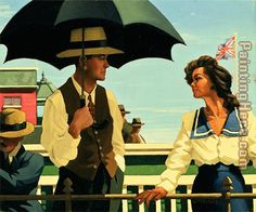 Jack Vettriano Summertime Blues painting is shipped worldwide,including stretched canvas and framed art.This Jack Vettriano Summertime Blues painting is available at custom size. Jack Vettriano, Umbrella Art, Under My Umbrella, Edward Hopper, The Singing Butler, Cheap Paintings, Oil Paintings, Kindergarten Art, Pet Portraits
