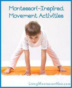 Links to free printables and Montessori-inspired movement activities for home or school