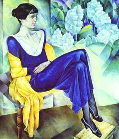Nathan Altman ( (1889-1970) . Portrait of Anna Akhmatova.