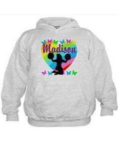 Embroidered hooded Gymnastics quote sweatshirt - custom made gymnastic sweatshirt AdpnL9p