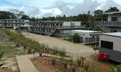 The Australian-run East Lorengau transit accommodation for refugees on Manus Island in Papua New Guinea.