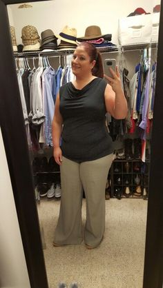 10.14.15 Ann Taylor top, old Navy linen pants and Born wedges