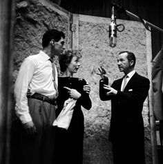 Stephen Douglass, Gwen Verdon and Ray Walston in a recording session for Damn Yankees – Original Broadway Cast Recording 1955 | The Official Masterworks Broadway Site
