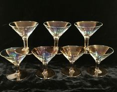 MINI MARTINI GLASSES VINTAGE- FOR APERITIFS, APPETIZERS AND DESERT- SET OF 7 Martini Cocktail, Cocktail Shots, Drink Mixer, Shot Glasses, Selling On Ebay, Deserts, Appetizers, Vintage, Mini