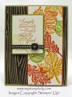 Card using Gently Falling stamp set by Stampin' Up!
