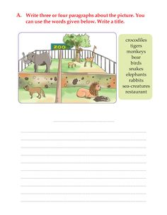 Writing skill -grade 3 - picture composition ل Creative Writing Worksheets, Creative Writing For Kids, English Creative Writing, English Writing Skills, English Lessons, Paragraph Writing Worksheets, English Grammar Exercises, Teaching English Grammar, Grammar Lessons