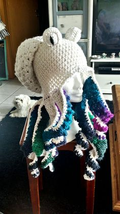 Crochet octopus hat                                                                                                                                                                                 More