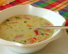 Coconut soup.  Quick & tasty