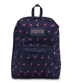 JanSport SuperBreak in Pink Flamingo.   I so want to get this!