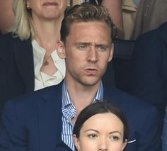 Aaaand even more Wimbledon Tom! He is so intense. #TomHiddleston july 2015
