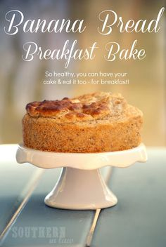 Banana Bread Breakfast Bakes - Gluten Free, Low Fat, Clean Eating Friendly, Healthy, Sugar Free