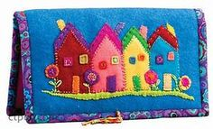 Wild Blooms & Colorful Creatures | Felting, Wool applique and House quilts