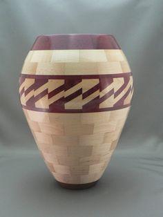 Wooden vase by RalphjCostello on Etsy, $175.00