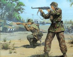 June 6 1944 Pegasus Bridge - pin by Paolo Marzioli German Soldiers Ww2, German Army, Military Art, Military History, Military Uniforms, Army Drawing, Military Drawings, Germany Ww2, Ww2 Pictures