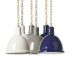 Trendy and stylish, the Barbara Cosgrove Clay Pendant will add a glossy appeal that will light up beautifully in any room in your home. This elegant pendant features a hand-glazed fired ceramic shade in white, blue or gray with a nickel or brass chain Ceramic Pendant, Pendant Lamp, Pendant Lighting, Beach House Lighting, Modern Farmhouse Lighting, Contemporary Pendant Lights, Burke Decor, Interior Lighting, Lighting Design