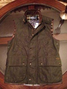 Ralph Lauren Oil Cloth Vest Hunter Green & Leather Trimmings Sz Large New/Tags #RalphLauren