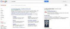 Google+ résultats universelles