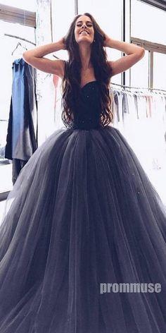 fb25dde6616fa Sweetheart Beaded Top Tulle Long Prom Ball Gown Dresses SPE114 #promdress  #promdresses #longpromdress