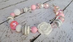 Chunky Necklace Toddler Necklace Pink Chunky by mysweetbee on Etsy, $17.50