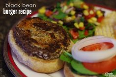 homemade easy black bean burger recipe