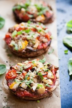 Portobello, Bruschetta, Salmon Burgers, Low Carb Recipes, Paleo, Food And Drink, Veggies, Appetizers, Meals